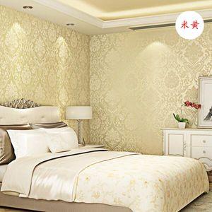 Yatak Odası Duvar Kağıdı için 0.53x10m papel de Parede lüks Avrupa Derin Kabartma Kumaş Duvar Kağıdı Şam papel temas