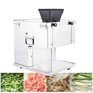 Gewerbe Meat Slicer 2-20mm Fleischkutter Desktop-Cuting Maschine 280KG / h Edelstahl Scheibe Maschine 110V / 220V