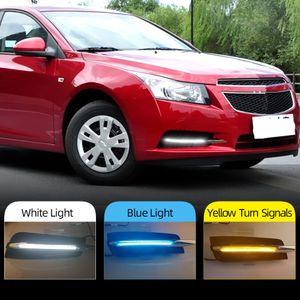 Chevrolet Cruze için 2009 2010 2011 2012 2013 2014 DRL Gündüz sarı dönüş sinyali ile Işık sis lambası kapağı Koşu