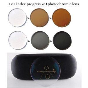 1.61 Index Lens Photochromic Progressive Anti Reflective UV400 Multifocal Transition Lenses Prescription Myopia Reading Glasses