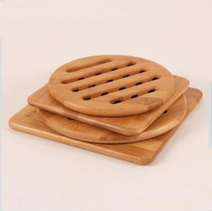 Geschirr Mat natürlicher Bambus Thick Hitzebeständige Tabelle Isolierung Pad Küche Restaurant Table Wohnkultur Anti-Rutsch-Coaster LXL857-1