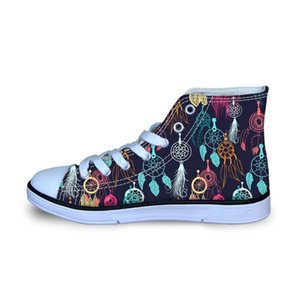 Dream Catchers Printing Kids Shoes For Girl Casual Lace Up Canvas Chidlren's Sports High Top Sneakers Outdoor Fashion Hot Sale