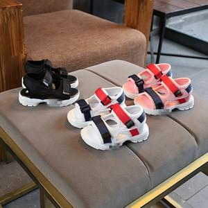 أطفال أطفال بنين صنادل للبنات جلد الطفل تهوية أحذية الأطفال Catamite Grinningly Sneakers Girl Children Tide Fashion