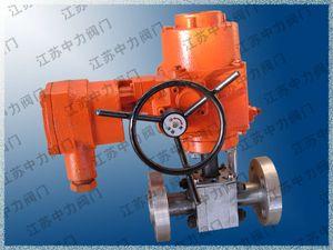 Electric high pressure flange ball valve