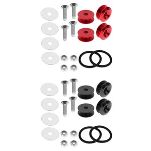 8PCS veicolo Quick Release Fasteners Strumento Set - rosso + nero