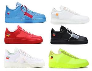 2020 Fuerzas Mens 1 Hot 2.0 zapatos corrientes de las zapatillas de deporte de la Universidad diseñadores Off MCA azul ocasional del deporte del monopatín forzados bajo de las mujeres Zapatos Chaussure