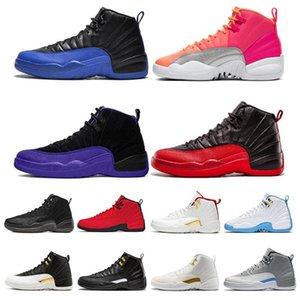 12 12s Shoes Mens Basketball Jogo Royal College Marinha Jordán NakeskinJordâniahomens de concórdia escuras Retro Esporte Tênis