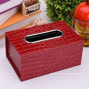 Fashion New Leather Tissue Box rettangolo quadrato penna Remote storage desk organizer Tovagliolo di carta portasciugamani copri custodia dispenser