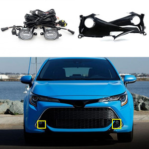 Car Fog Lights For T-oyota Corolla 2019-2020 Clear LED Front Bumper Fog Lamp Replace Assembly kit (one Pair)
