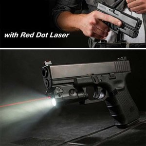 XC2 Lazer Işığı Kompakt Tabanca Fener ile Red Dot Lazer Taktik LED MİNİ Beyaz Işık 200 Lümen Airsoft Fener