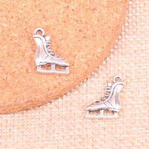 70pcs prata antiga patins de gelo sapatos Charms Pingente Fit pulseiras Colar DIY Jóias Metal Fazendo 17 * 12 milímetros