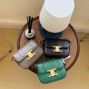 2020 femmes Messenger Mode Sacs en cuir véritable modèle serpent d'eau Sacs à main Lady sac à main épaule Sac bandoulière Serpentine