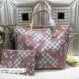 N41050 Classic Lady Pink Canvas Leather Shopping Bag Shoulder Bags Hobo Handbags Top Handles Boston Cross Body Messenger Shoulder Bags