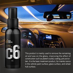 Yüksek kaliteli 50ML Pratik Bakım Araç Yağ Film Temizleme Oto Ön Cam Cam Temizleme + Havlular yüksek parlaklık Dayanıklı Dropshiper