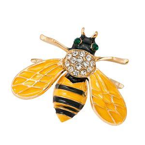 Belle Cristal Honeybee Broche insectes épinglette Boutonnière Bijoux fantaisie