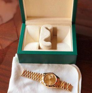 Presidente em ouro de 18K Data Safira Cystal Genebra Mens Relógios Movimento mecânico automático Relógio de luxo masculino Segunda a domingo