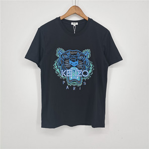 Marka Tasarımcı Tişörtler Kadınlar Erkek Lüks Tişört Kısa Kollu Yaz Gömlek Kaplan Baş Kadın Yaz Tees moda Streetwear 2031609V