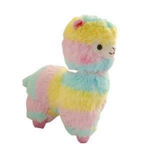 Presentes bonitos do arco-íris Alpaca Plush brinquedo macio Plush Alpacasso Sheep Llama Bicho de Pelúcia para e meninas