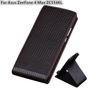 QX03 Custodia rigida per telefono verticale in vera pelle per Asus ZenFone 4 Max ZC554KL Custodia per astuccio verticale Asus ZenFone 4 Max ZC554KL