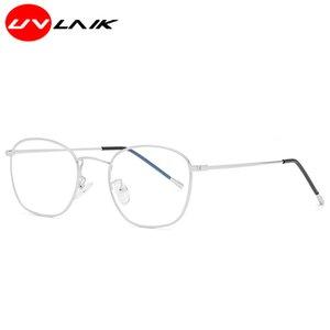 Al por mayor-UVLAIK clásico óptico anti-azul mujeres de los hombres de los vidrios de la textura de la aleación Framedegre de alta defini lente unisex filtro azul Gafas
