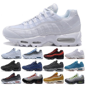2019 Men 95 OG Cushion Navy Sport Nike Air Max 95 de alta calidad Chaussure 95s Walking Boots Hombre zapatillas Cushion 95 zapatillas de deporte Tamaño 36-46