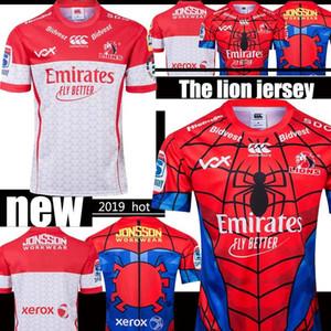 Héroes Edición 2019 NUEVA ZELANDA Super Rugby Leones SPIDER-MAN MARVEL Jersey de rugby tamaño S-3XL de la Liga de Rugby camisa camiseta de calidad superior