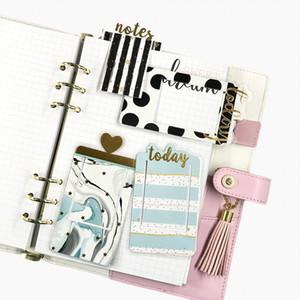 Fromthenon Marcador De Plástico Coberto Marcador Notebook E Revistas Clipe Index Divider Planner Acessórios Bonito Material Escolar Papelaria