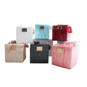 Design Acrylic Decoration Clutches Women Evening Bags Party Wedding Big Pearl Handbag Chain Crossbody Purses Wallet