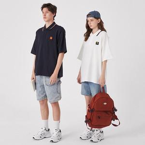 2020 Mens Womens Designer T-Shirts Fashion Mens Womens Summer Tshirts Brand Short Sleeves Lapel T-shirts Spring College Style Shirt 2051104V