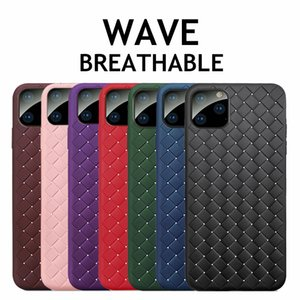 Breathable Mesh designer phone case For iphone 11 pro max case xs 7 8 Plus Weaving Grid Cover for coque iPhone 11 x xr Silicone Shell