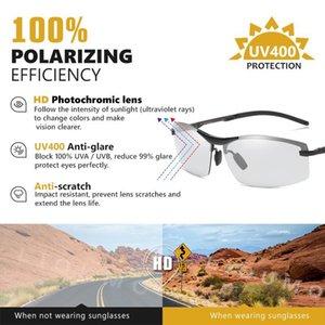 CoolPandas Photochromic Sonnenbrille Männer polarisierten HD Randlos Brille Frauen Driving Brille Anti-Glare-Gläser zonnebril heren