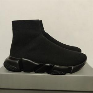 2020 Hız Eğitmen Siyah Kırmızı Oreo Üçlü Siyah Düz Moda Çorap Çizme Sneaker Hız Eğitmen Runner Erkekler Kadınlar Casual Sneaker ile Toz Torbası