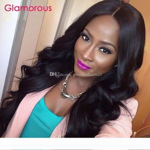 Glamorous Brazilian Body Wave Full Lace Wig 100% Virgin Human Hair Wigs for Black Women Good Quality Glueless Lace Front Human Hair Wigs