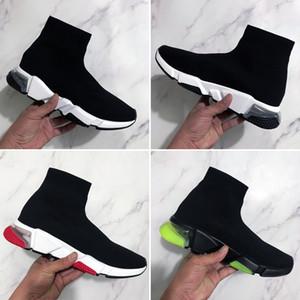 2020 Nuova Speed Clear Sole Nero Verde Bianco Rosso piatto calzino Stivali Donna Uomo Casual Scarpe Sneakers con la scatola