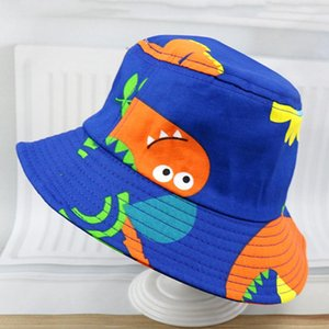 Fruits Fish Animal Series Pattern Bucket Hat Sunscreen Unisex Flat Top Cap Summer Foldable Fisherman's Hat Children's Sun Visor
