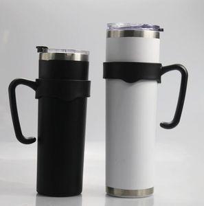20 oz 30 oz Magro Tumbler manici porta di plastica portatile dell'acciaio inossidabile, detentore della Coppa dritto Balck maniglia per le tazze GGA3484-5