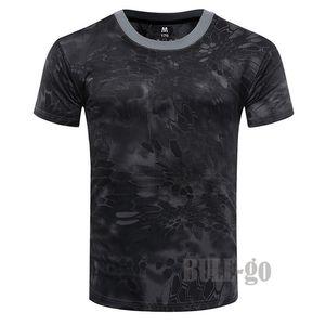 2019 camuflaje camiseta de secado rápido transpirable Medias ejército táctico camiseta para hombre Camiseta de compresión de fitness Bodybulding verano