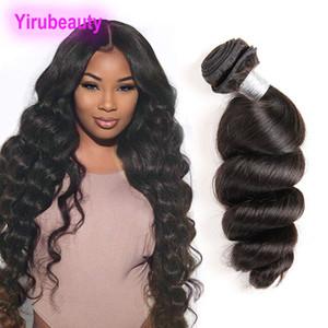 Un paquete extensiones de cabello Mlaysian pelo virginal 1 unidades un conjunto onda suelta teñible doble trama onda suelta 8-30 pulgadas
