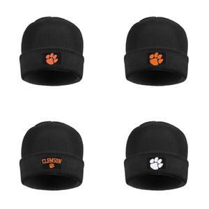 delle donne Mens Clemson Tigers logo vello di lana foderato protezione di modo cappelli del Beanie Logo Arch Amore Campioni Nazionali 2018