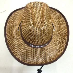 Western Style Cowboy Strohhut für Männer Frauen Sommer Sonnenhut gewebt Stroh Cowboy Hüte Reisen Camping Strand Mütze Mode Jazz Hut