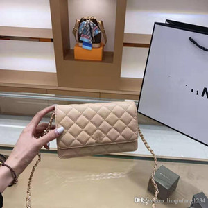 2020 Nova Ling De Cadeia Mini de Panela Saco Oblique Cruz de um ombro do couro genuíno Handbag Bucket mulher Um Designer Shoulder Bag
