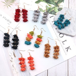 Long Tassel Earrings for Women Bohemian Drop Dangle Earrings 3 Layered Multi Color Fringe Earrings Girls