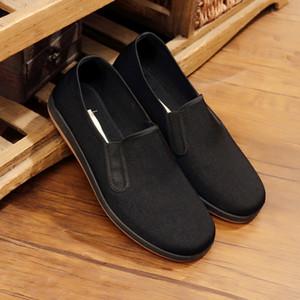 Clásico de tela Negro zapatos cómodos zapatos de Bruce Lee Kung Fu chino retro-desgaste resistan Chunchun Tai Chi Zapatillas artes marciales de algodón zapatos