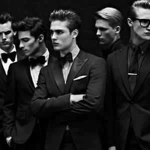 Black Suits for Men Wedding Groomsmen Jacket 2Piece los hombres pantalones de traje Slim Fit Terno Masculino Groom Tuxedos