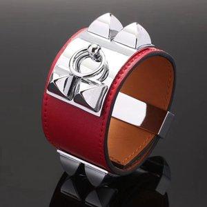 Mode designer Bijoux Femmes bracelets H bracelet En Cuir Bracelet punk mode avion nail bracelet pour hommes et femmes Livraison gratuite