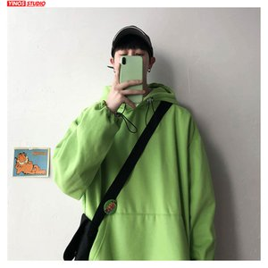Dropshipping 2020 Mens Causal Streetwear Hooded Sweatshirts Fashion Cotton Pullover Male Spring Long Sleeve O-Neck Hoodies