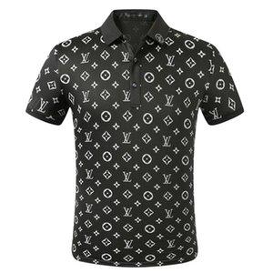 Erkek Tasarımcılar polo gömlekler Erkek Hugo Yaz Aşağı Yaka Kısa Kollu Pamuk Poloshirts Erkekler Louis Vuitton polos Tops çevirin