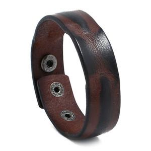 punk, simples hommes bracelet en cuir charme vintage bouton pression accessoires guitare sport jewlery cadeaux boyfriend brassard gros