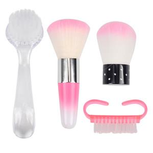 Lima per unghie Spazzola per pulizia Strumenti per unghie per unghie Manicure Pedicure Soft Rimuovi polvere Piccolo angolo Clean Brush per Nail Care RRA1318