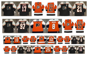 Vintage Philadelphia Flyers Jersey 21 Peter Forsberg 10 JOHN LeCLAIR 25 KEITH PRIMEAU 12 Gagne 8 MARK RECCHI 97 JEREMY ROENICK Hockey personalizado